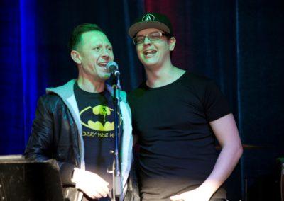Elliot Bambrough and Friend Singing Karaoke