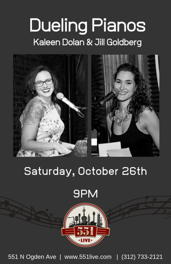 Dueling Pianos at 551 Live on Saturday, October 26th